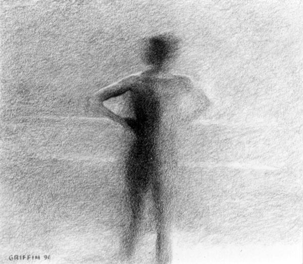 Swimmer - charcoal - 1996 - Roger Griffin