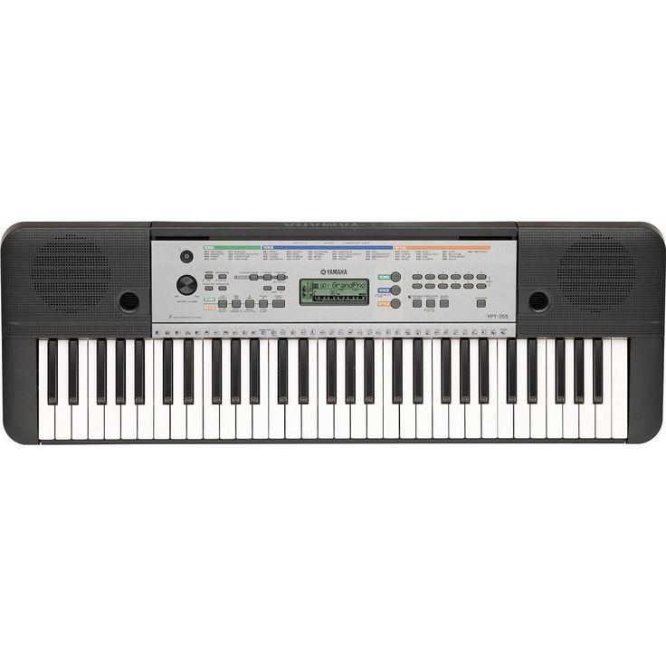 Yamaha Electric Piano Keyboard w/ 61 Full Size Keys-YPT-255
