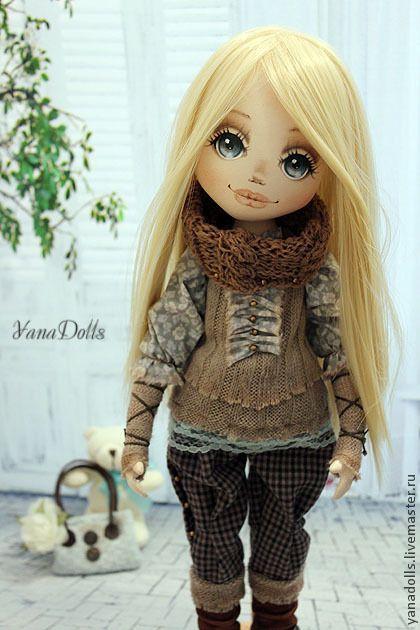 Helga - коричневый,кукла,кукла ручной работы,кукла текстильная,кукла интерьерная