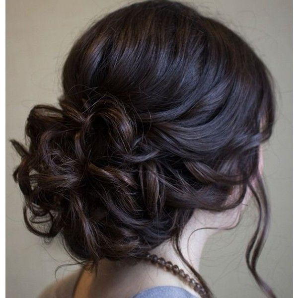 50 Cute and Trendy Updos for Long Hair ❤ liked on Polyvore featuring beauty products, haircare, hair styling tools, hair, hairstyles, hair styles and cabelo