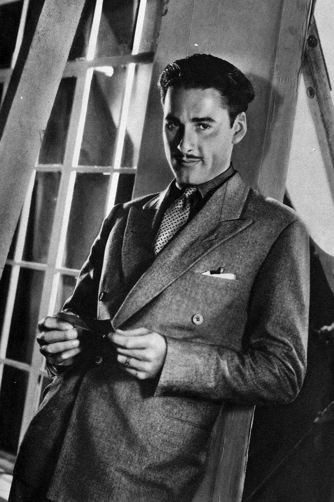 Errol Flynn at Warner Studios, 1930's~