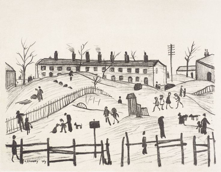 Winter in Broughton  Date  1969-72  Medium  Lithograph on paper