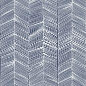 Herringbone White on Navy - Wallpaper - paper_canoe - Spoonflower