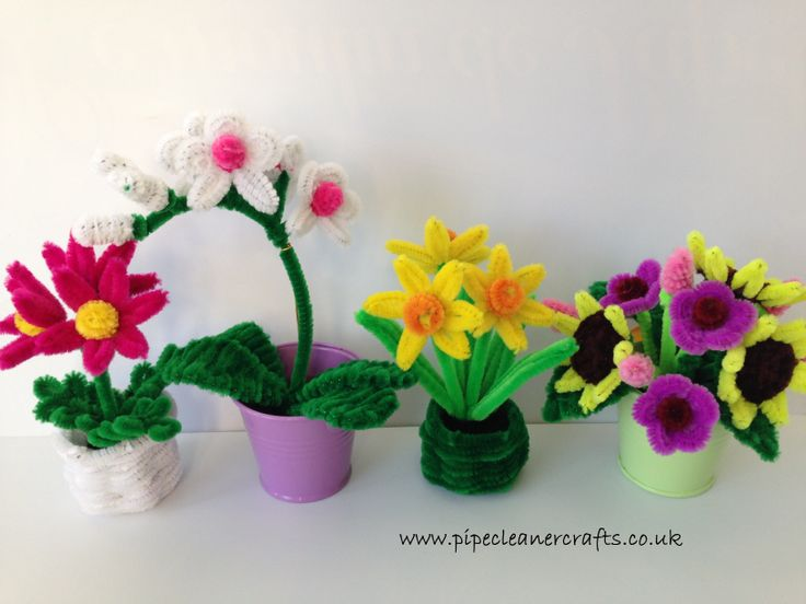 pipe cleaner flower pots - proportions for comparison. tutorials are available on the website and also in the Tutorials section on Pinterest. orchid video diy is here Video DIY available http://youtu.be/2_1umOEye8U