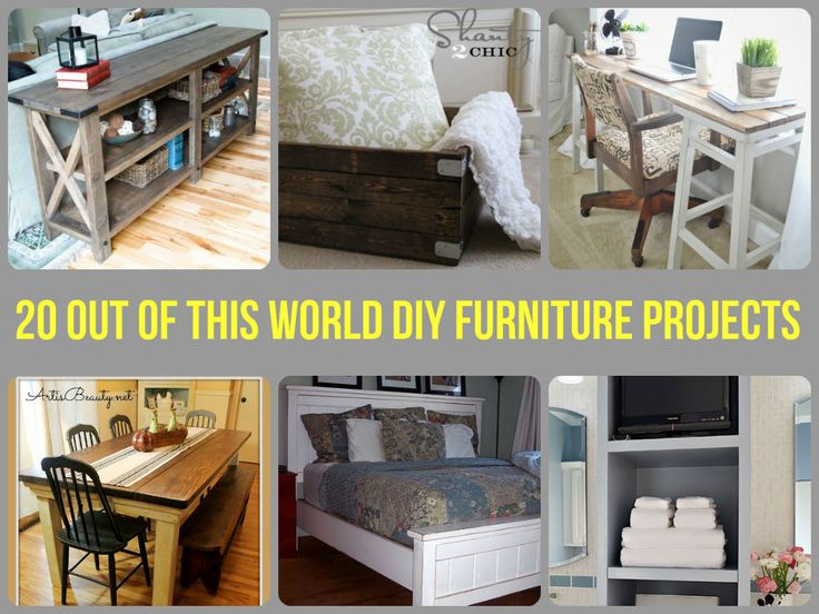 20 Out Of This World DIY Furniture Projects