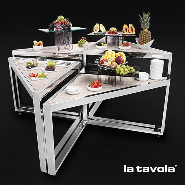 Our New Triangular Nesting Tables Are KEY In Creating A Unique, Beautiful  Buffetu2026
