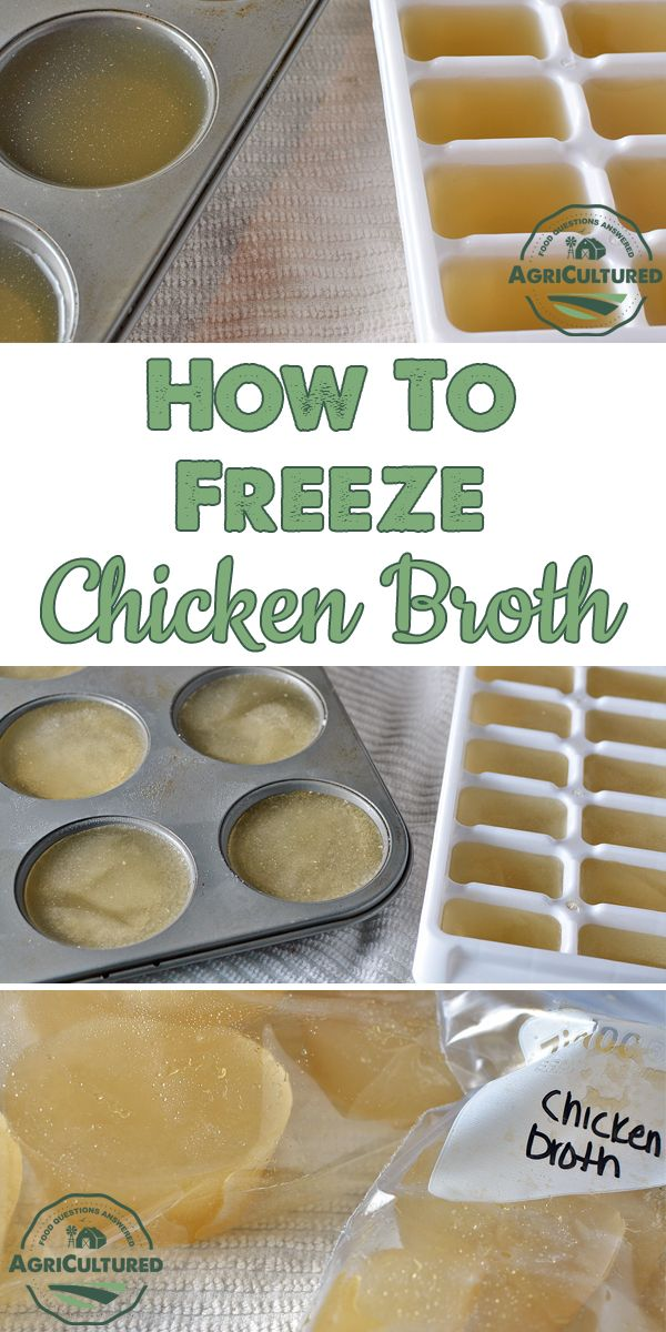 How to Freeze Chicken Broth from AgriCultured. Do you end up with leftover chicken broth when you're cooking? Find out how to freeze chicken broth in small portions, so you only thaw what you need.