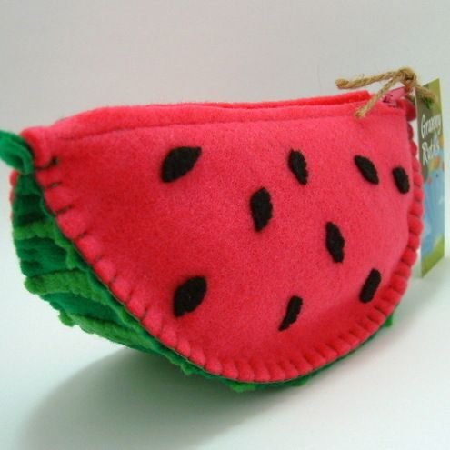 Tutti Frutti Felt Watermelon Wedge Purse
