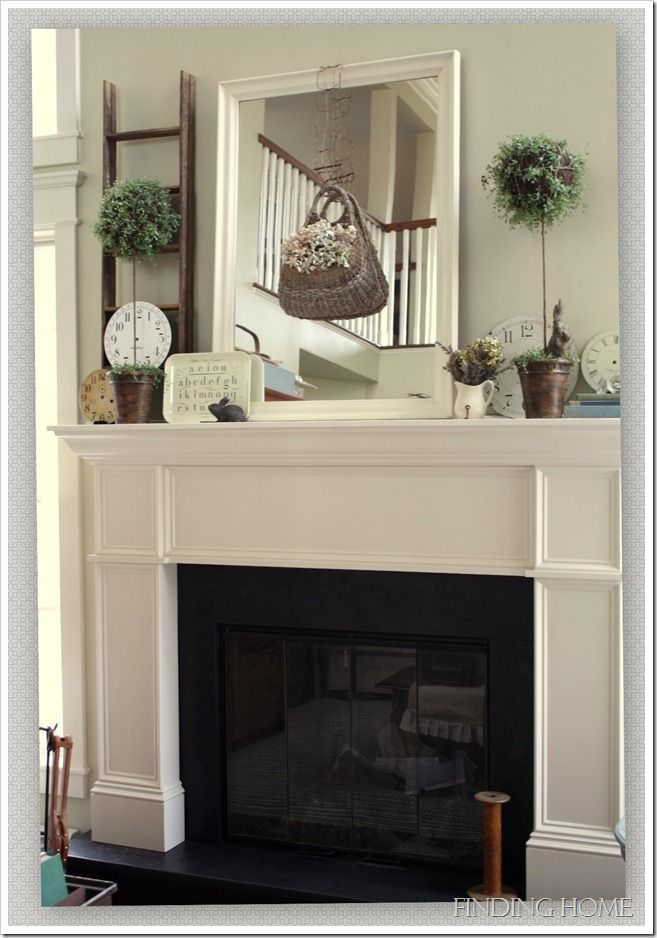 .: Fireplaces Mantels, Living Rooms, Mantel Decor, Ladder Decor, Spring Mantels, Mantels Ideas, Topiaries, Fireplaces Mantles Decor Ideas, Mantles Ideas