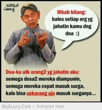 Lelucon berjudul Doa orang teraniaya yang dibuat oleh Tpao di www.GakLucu.com. Temukan juga lelucon lain yang mirip.