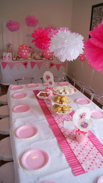 Ideas for my littles tea party...cute idea for a spring playdate with a group of 5 yr olds!