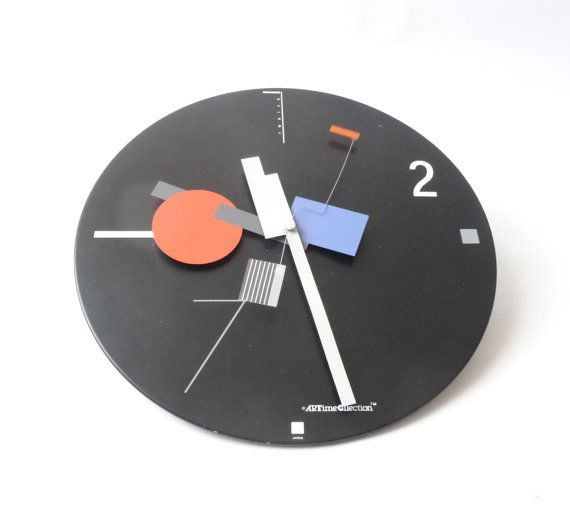 1980s Memphis Modernist Clock by mascarajones on Etsy, $150.00