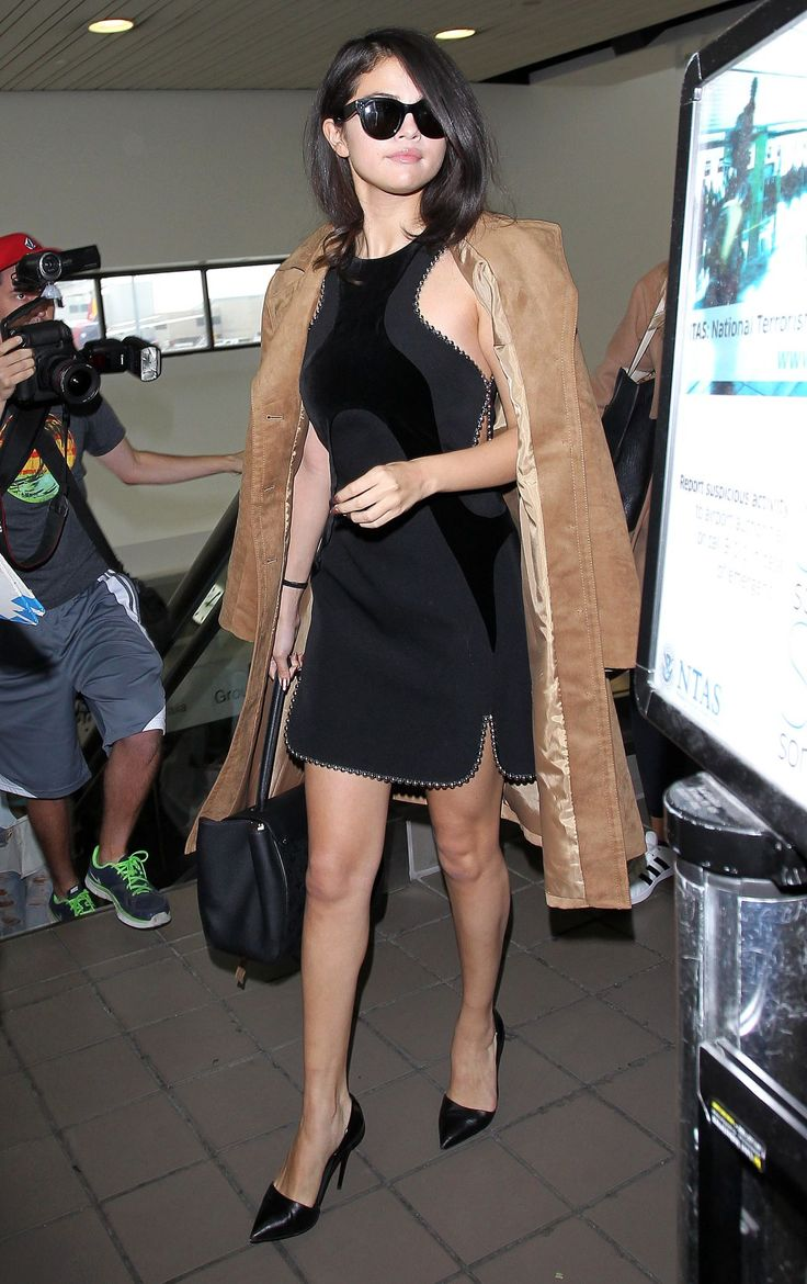 best images about celebrity style kim kardashian selena gomez in alexander wang arriving at lax airport in los angeles