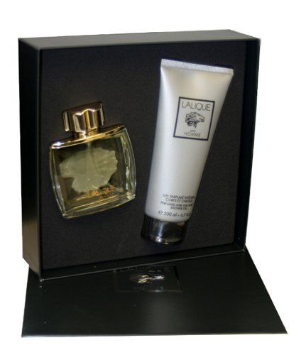 Lalique By Lalique For Men. Gift Set ( Eau De Parfum Spray 2.5 Oz + Shower Gel 6.6 Oz ). by Lalique. Save 56 Off!. $41.50. Packaging for this product may vary from that shown in the image above. This item is not for sale in Catalina Island. Lalique Cologne Gift Set (Eau De Parfum Spray 2.5 Oz + Shower Gel 6.6 Oz) for Men by Lalique.
