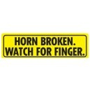 Horn Broken Watch For Finger Magnetic Bumper sticker  Free shipping (no minimum purchase) plus 10%off sale  Happy Holidays from Jen's Mart!