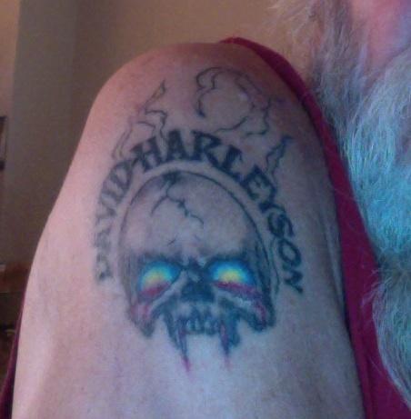 my skull tat...