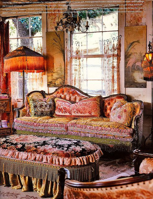 ⋴⍕ Boho Decor Bliss ⍕⋼ bright gypsy color & hippie bohemian mixed pattern home decorating ideas - Magnolia Pearl Ranch, via Flickr