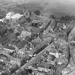 St John's Church and Washington Street, Workington, 1929 | Britain from Above