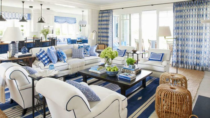 Mark D. Sikes | Blue Loves White | Dream Spaces | Decorating with Blue and White | Blue and White Homewares | Travelshopa Guides