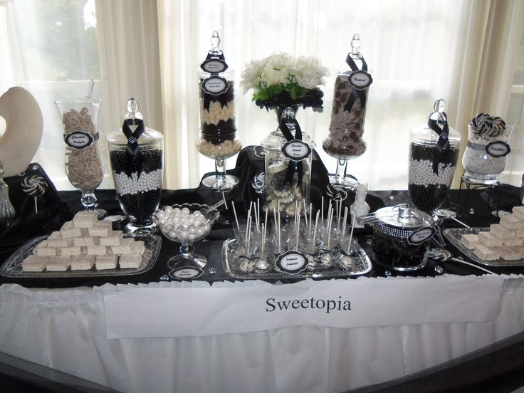 :: Boutique Affairs :: Lolly Buffets, Dessert Tables For Weddings,  Corporate Events And Parties   Black And Cream Wedding | Candy Buffets    Quality ...