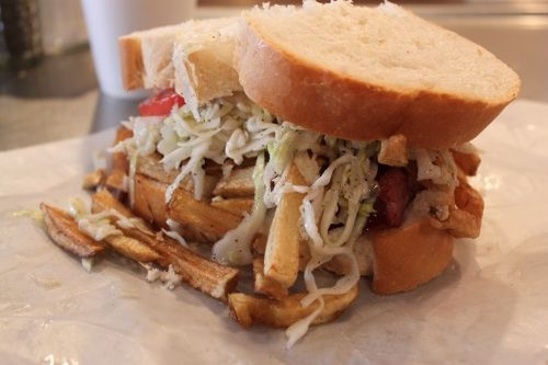 Primanti's Coleslaw, from Good Food Stories. In Pittsburgh this slaw goes on top of their sandwiches.
