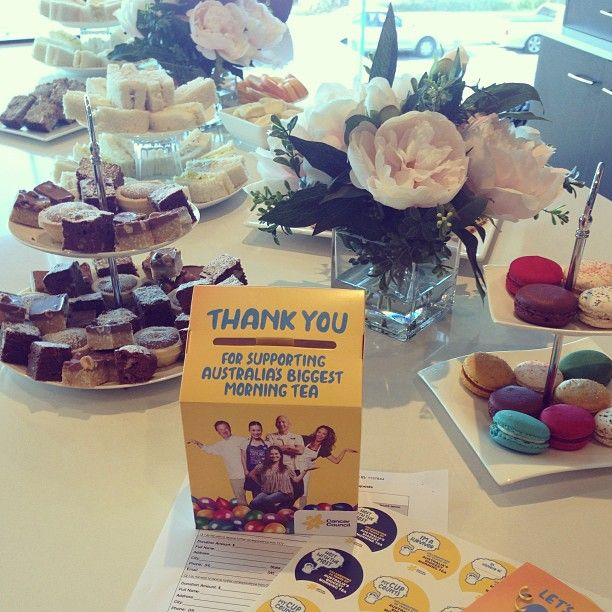 Our Biggest Morning Tea spread at Head Office - yum!