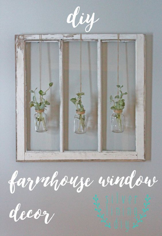 DIY - Farmhouse Barn Window Decor.