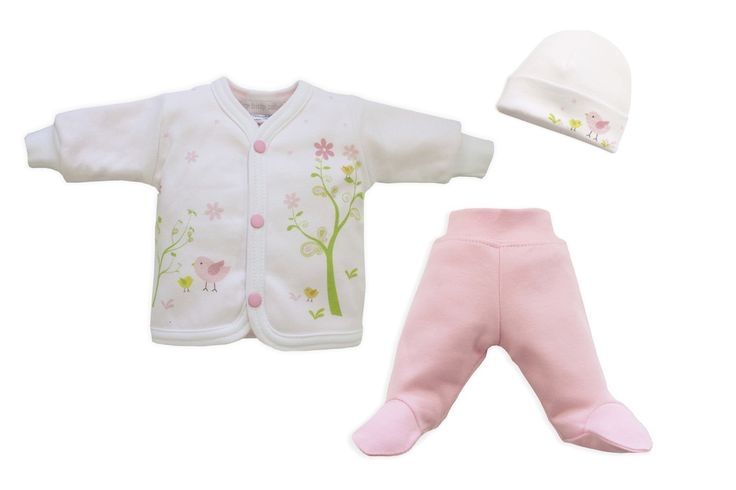 Pink Spring Time Friends print with matching jacket, pants and hat.