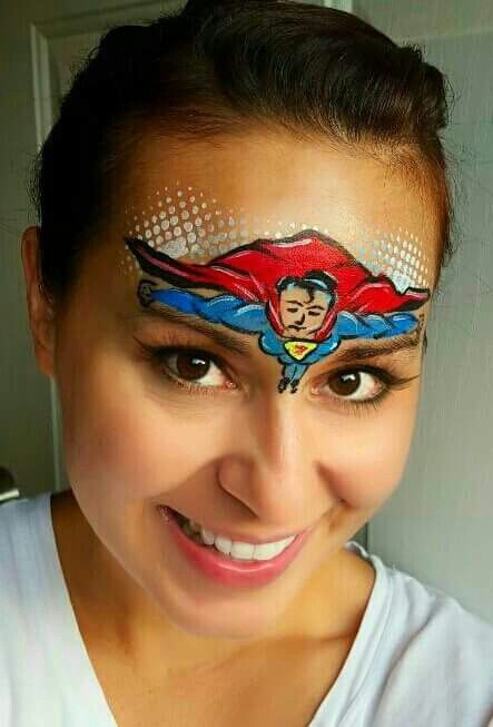 Superman Face Painting Designs Images amp Pictures Becuo