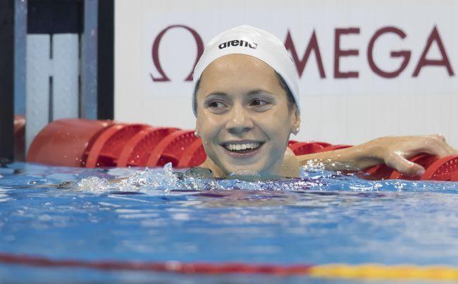 Kapás Boglárka bronzérmes lett női 800 méteres gyorsúszásban