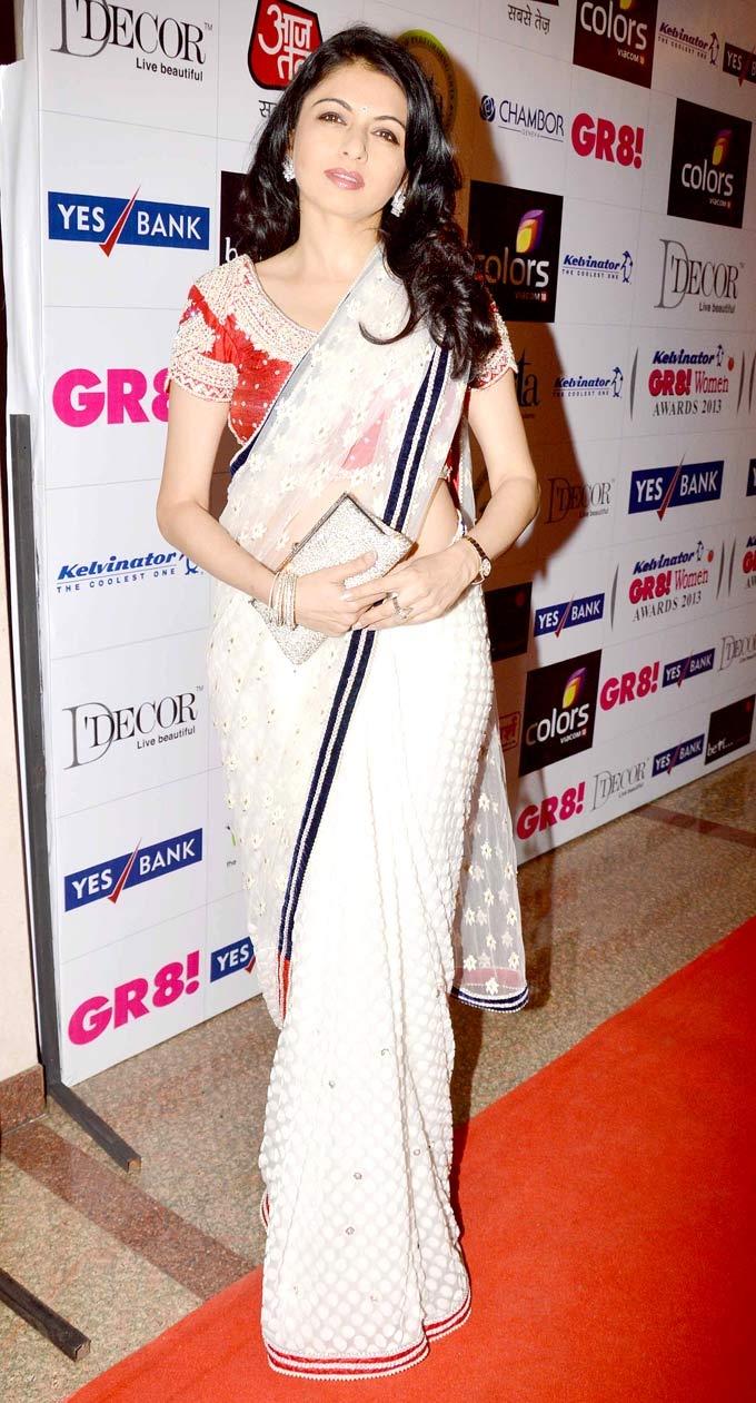 Bhagyashree at Gr8 Women's Achievers Awards 2013 #Bollywood #Fashion #Style