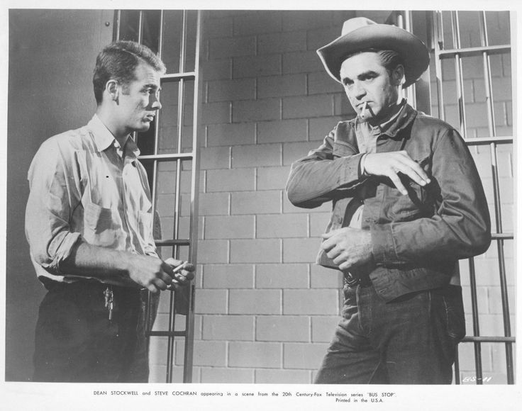 "Dean Stockwell and Steve Cochran, TV's Bus Stop, "" ""Afternoon of a Cowboy"" (1961)"