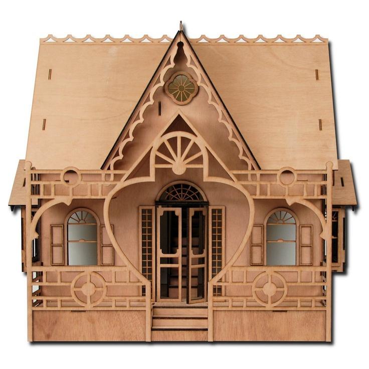 Amazon.com: Greenleaf Dollhouses Laser Cut Diana Dollhouse Kit: Toys & Games