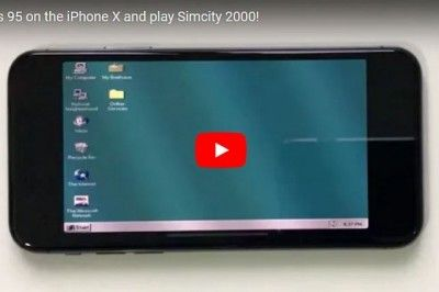 iPhone X'a Windows 95 Kuruldu Birde Üzerine Simcity 2000 Oynadılar