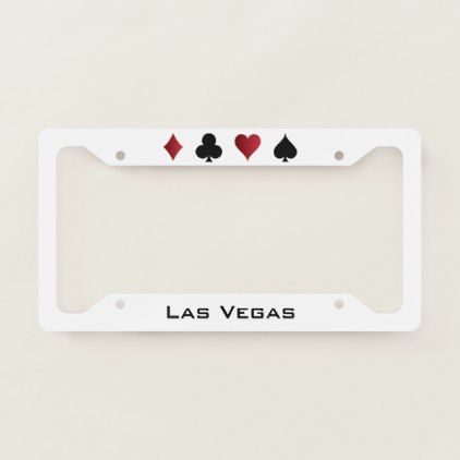 Las Vegas Licence Plate Frame - cyo diy customize unique design gift idea