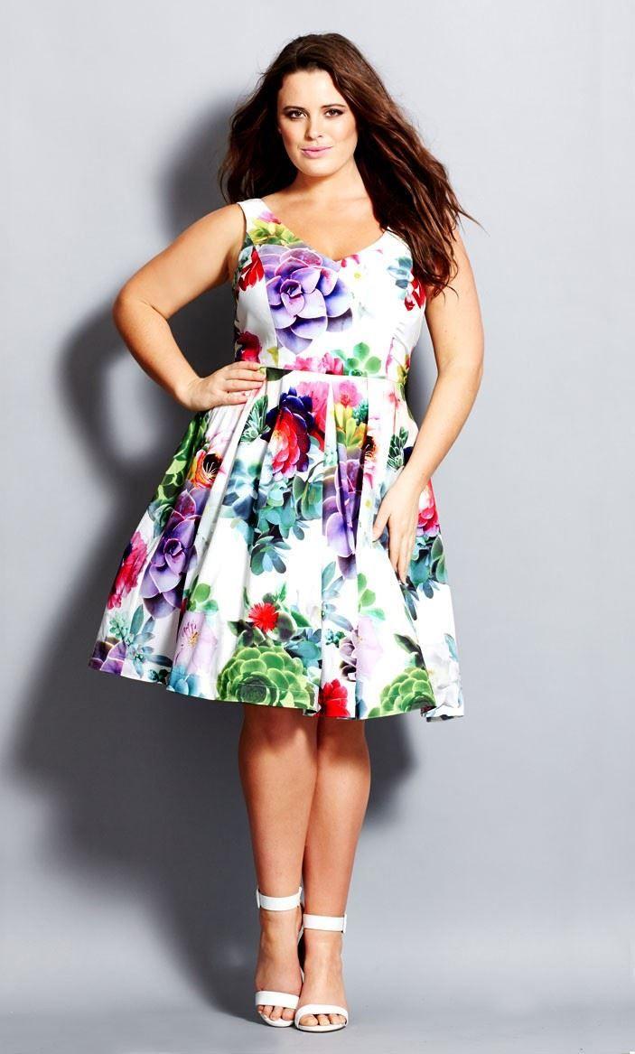 Plus Size Succulent Sweetie Dress