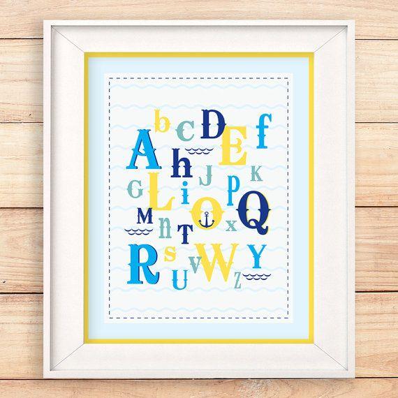 Nautical themed alphabets. Both educational and stylish #teampinterest