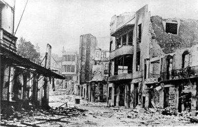 Guernica, Spain after bombing