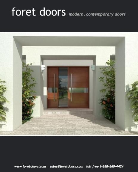 Gallery of contemporary modern wood front entry doors by for Interior design ideas for main door