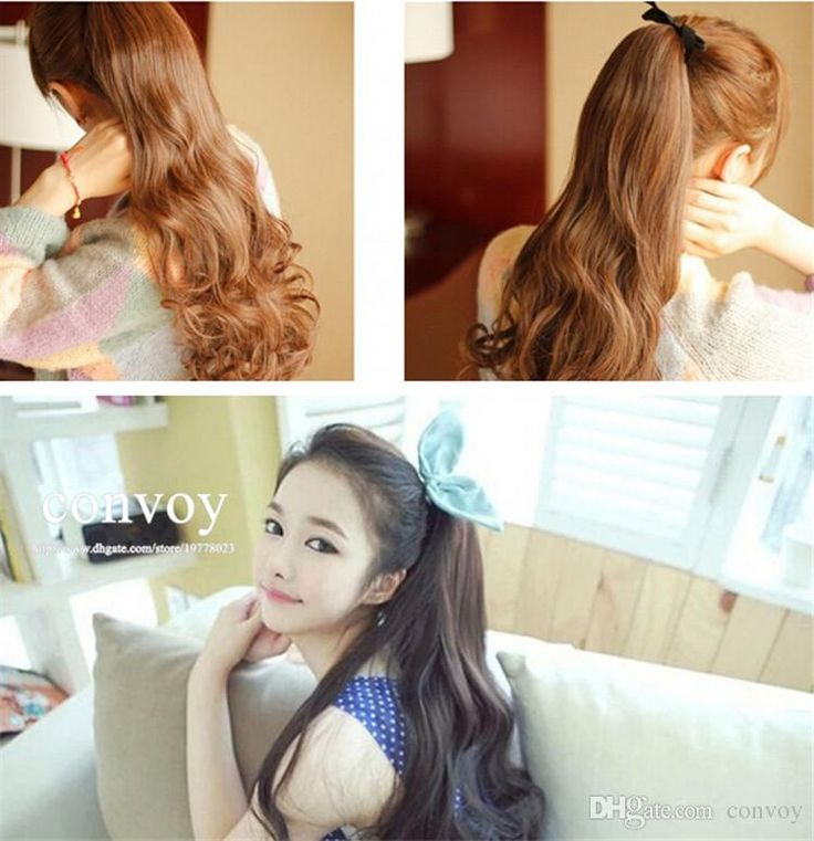 Discount Womens Lace Up Ponytail Horsetail Long Wavy Curly Ponytail Hair Piece Wavy Pony Hair Extension Pt27 From China | Dhgate.Com