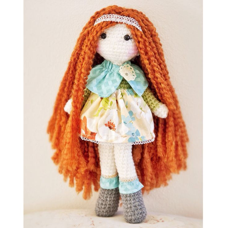 hair crochet crochet 3 crochet hats doll plush doll amigurumi crochet ...