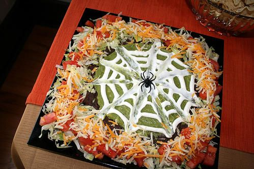 Halloween Party Ideas - Spider Web Taco Dip