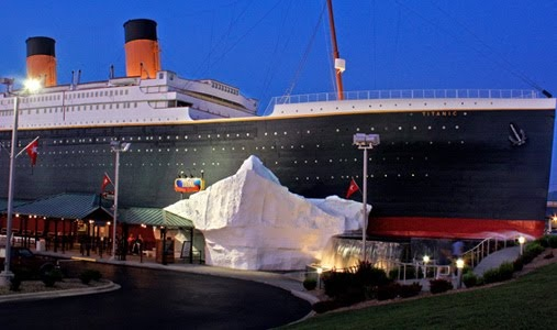 Titanic museum in Branson, TN.  The actual museum is a half scale replica of the ship!  100 years this April since its demise.
