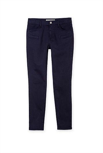 Side Pocket Sateen Jean