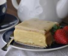Vanilla Slice with Passionfruit Icing: Thermomix Recipe Community. Looks devine! Note: requires 8 egg yolks. Made 3/4 of the custard recipe to fit a 20cm square cake tin  substituted 1 1/2 tsp vanilla bean paste for the vanilla bean pod. Lovely vanilla aroma, tasted rich  thick  had vanilla pod seeds throughout.