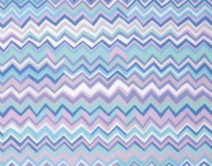 Zig Zag - blue, Brandon Mably, per 1/2 yard - Hyggeligt Fabrics