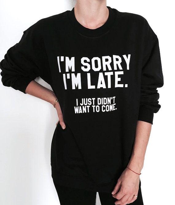 I'm sorry i'm late i just didn't want to come black by Nallashop