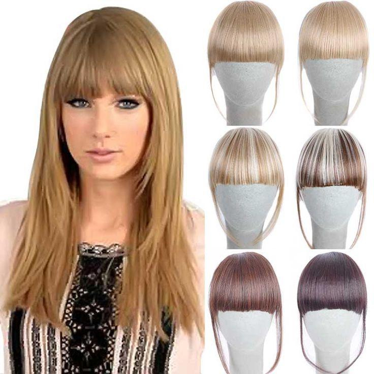 Синтетические Волосы, Челка Заколка 6 дюймов Парики 2 Клипы Клип в прямо Ложным Бахрома Волосы Челки Клип на Взрыва Расширение 14 Цветов #men, #hats, #watches, #belts, #fashion, #style