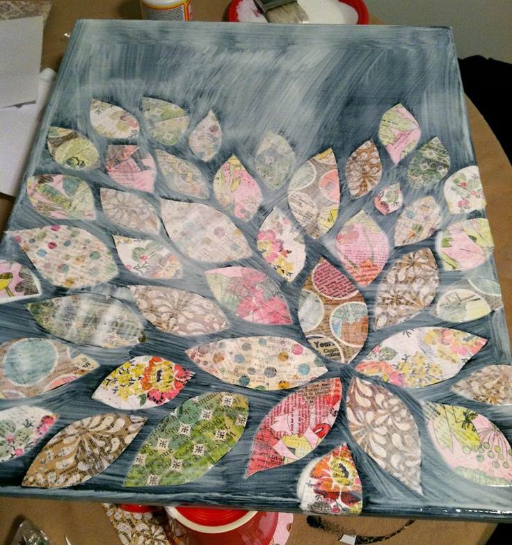 mod podge canvas how-to