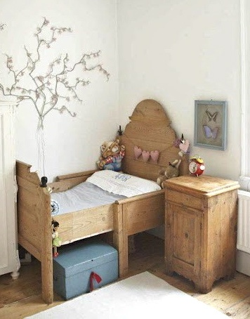 Bedroom for a little boy or girl little Swedish bed ... oh my!
